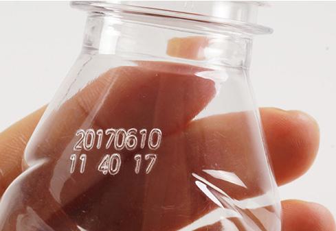 在塑料瓶容器上激光喷码