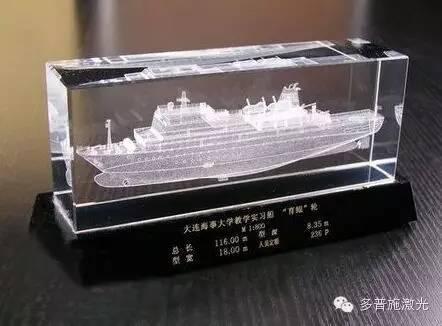 激光打标机在玻璃工艺品上的应用