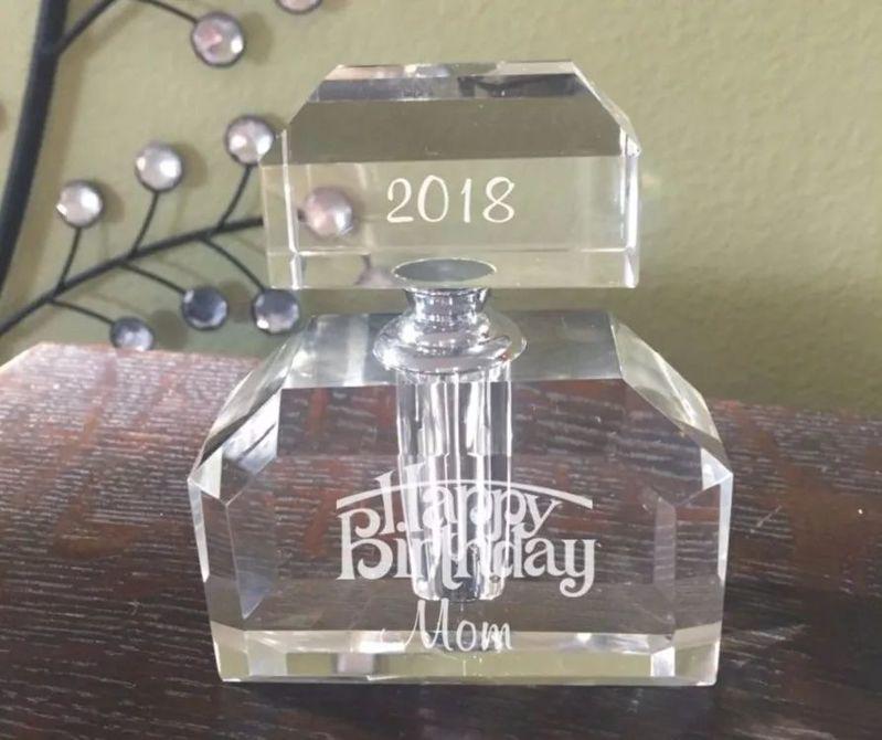 香水玻璃瓶激光打标